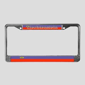 Liechtenstein Flag License Plate Frame