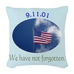 9-11 We Have Not Forgotten Woven Throw Pillow
