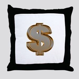 Dollar Signs Throw Pillow