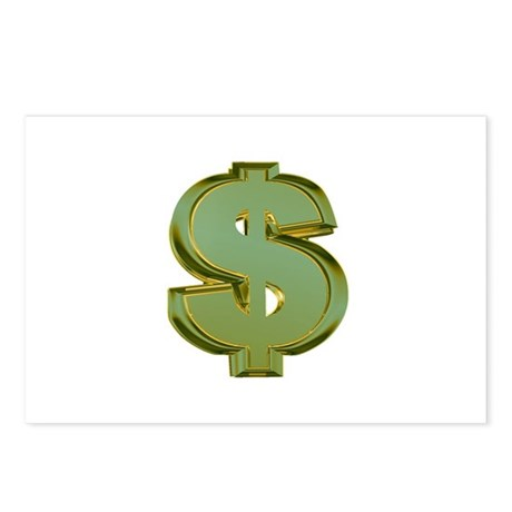Dollar Signs Postcards (Package of 8)