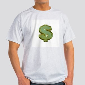 Dollar Signs Ash Grey T-Shirt