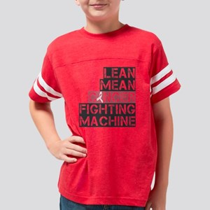 lean mean cancer fighting mac Youth Football Shirt