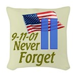 Never Forget 9-11 - With Buildings Woven Throw Pil