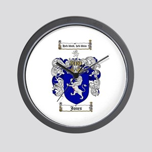 Jones Coat of Arms / Family Crest Wall Clock