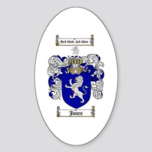 Jones Coat of Arms / Family Crest Oval Sticker