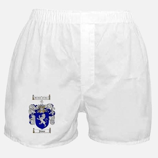 Jones Coat of Arms / Family Crest Boxer Shorts