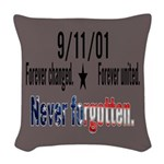 9/11 Tribute Forever United Woven Throw Pillow