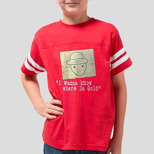 GOLD ATblack Youth Football Shirt