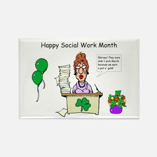 Social Work Month Desk2 Rectangle Magnet