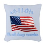 9/11 Tribute - Always Remember Woven Throw Pillow