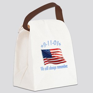 9/11 Tribute - Always Remember Canvas Lunch Bag