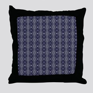 Meshed (Blue) Throw Pillow