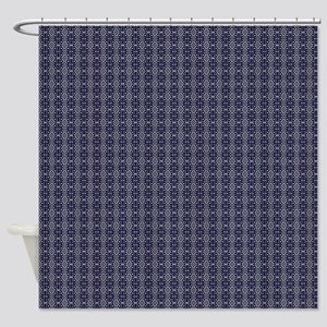 Meshed (Blue) Shower Curtain