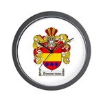 Zimmerman Coat of Arms Crest Wall Clock