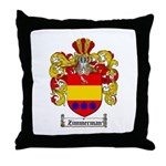 Zimmerman Coat of Arms Crest Throw Pillow