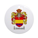 Zimmerman Coat of Arms Crest Ornament (Round)