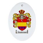 Zimmerman Coat of Arms Crest Oval Ornament