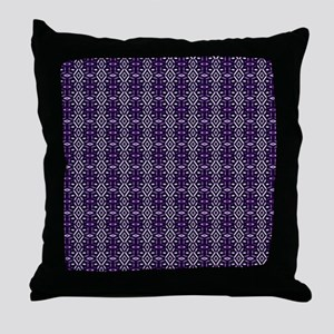 Meshed (Purple) Throw Pillow