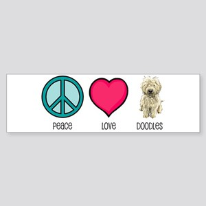 Peace Love & Doodles Bumper Sticker
