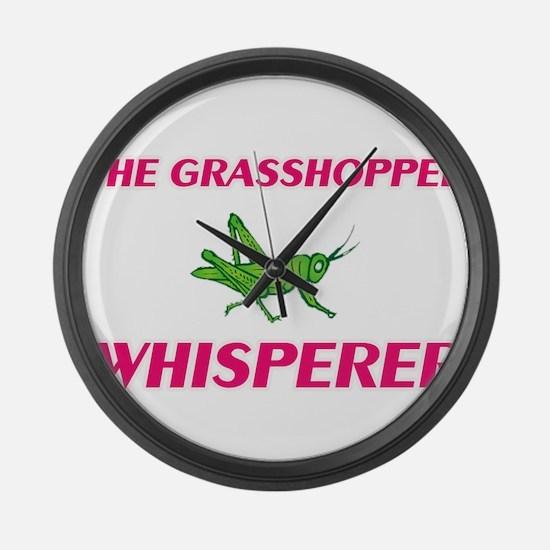 The Grasshopper Whisperer Large Wall Clock