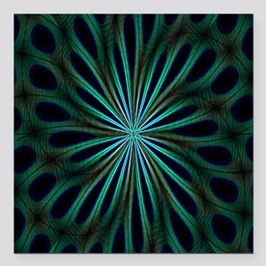 """Psychedelic 8 Square Car Magnet 3"""" x 3"""""""