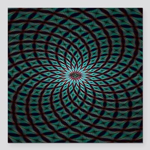"""Psychedelic 9 Square Car Magnet 3"""" x 3"""""""