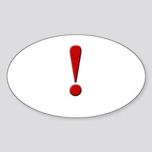 Exclamation Point Oval Sticker