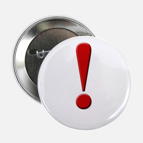 """Exclamation Point 2.25"""" Button (10 pack)"""