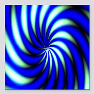"""Psychedelic 12 Square Car Magnet 3"""" x 3"""""""