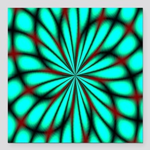 """Psychedelic 14 Square Car Magnet 3"""" x 3"""""""