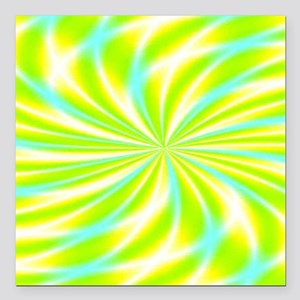 """Psychedelic 15 Square Car Magnet 3"""" x 3"""""""