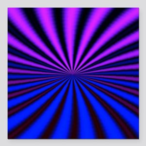 """Psychedelic 18 Square Car Magnet 3"""" x 3"""""""