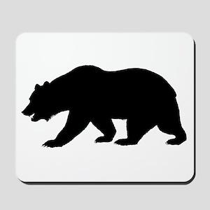 Black California Bear Mousepad
