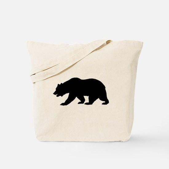 Black California Bear Tote Bag