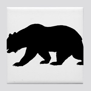 Black California Bear Tile Coaster