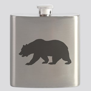 Black California Bear Flask