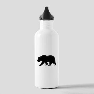 Black California Bear Sports Water Bottle
