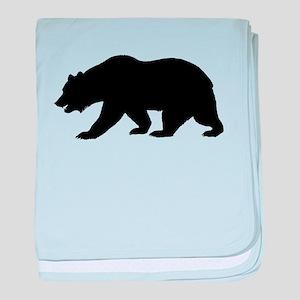Black California Bear baby blanket