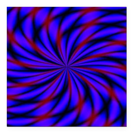 """Psychedelic 19 Square Car Magnet 3"""" x 3"""""""