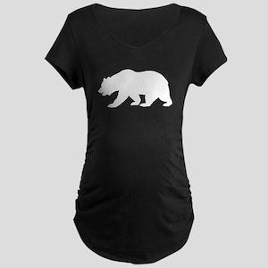 White California Bear Maternity T-Shirt