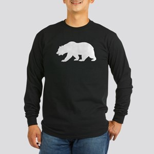 White California Bear Long Sleeve T-Shirt