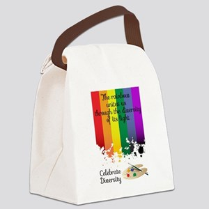 Celebrate Diversity Canvas Lunch Bag