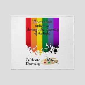 Celebrate Diversity Throw Blanket