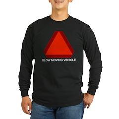 Slow Moving Vehicle Sign Long Sleeve Dark T-Shirt