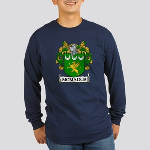 McManus Coat of Arms Long Sleeve Dark T-Shirt