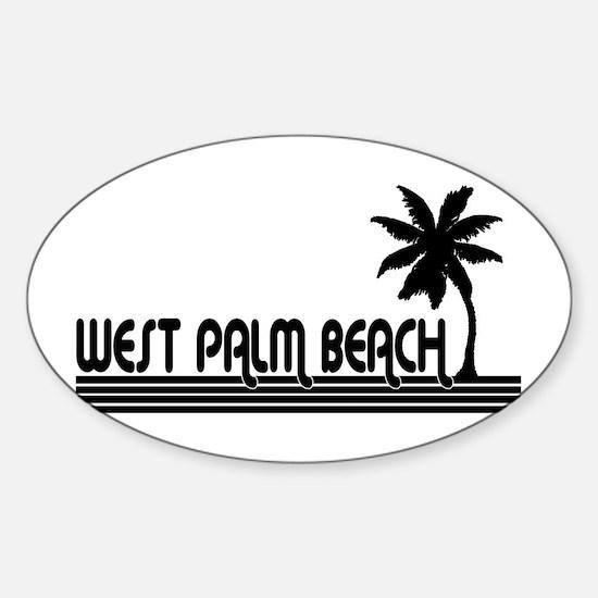 West Palm Beach, Florida Oval Decal