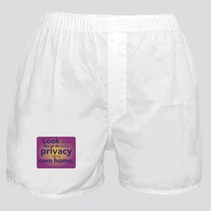 Privacy of own home - homebirth Boxer Shorts