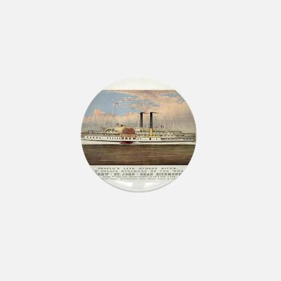 People's line Hudson River - 1877 Mini Button
