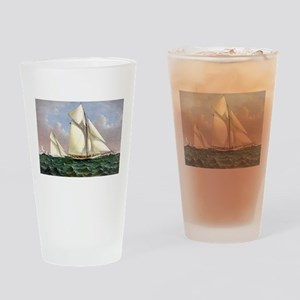 Mayflower saluted by the fleet - 1886 Drinking Gla