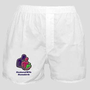 Husband wife unassisted homebirth Boxer Shorts